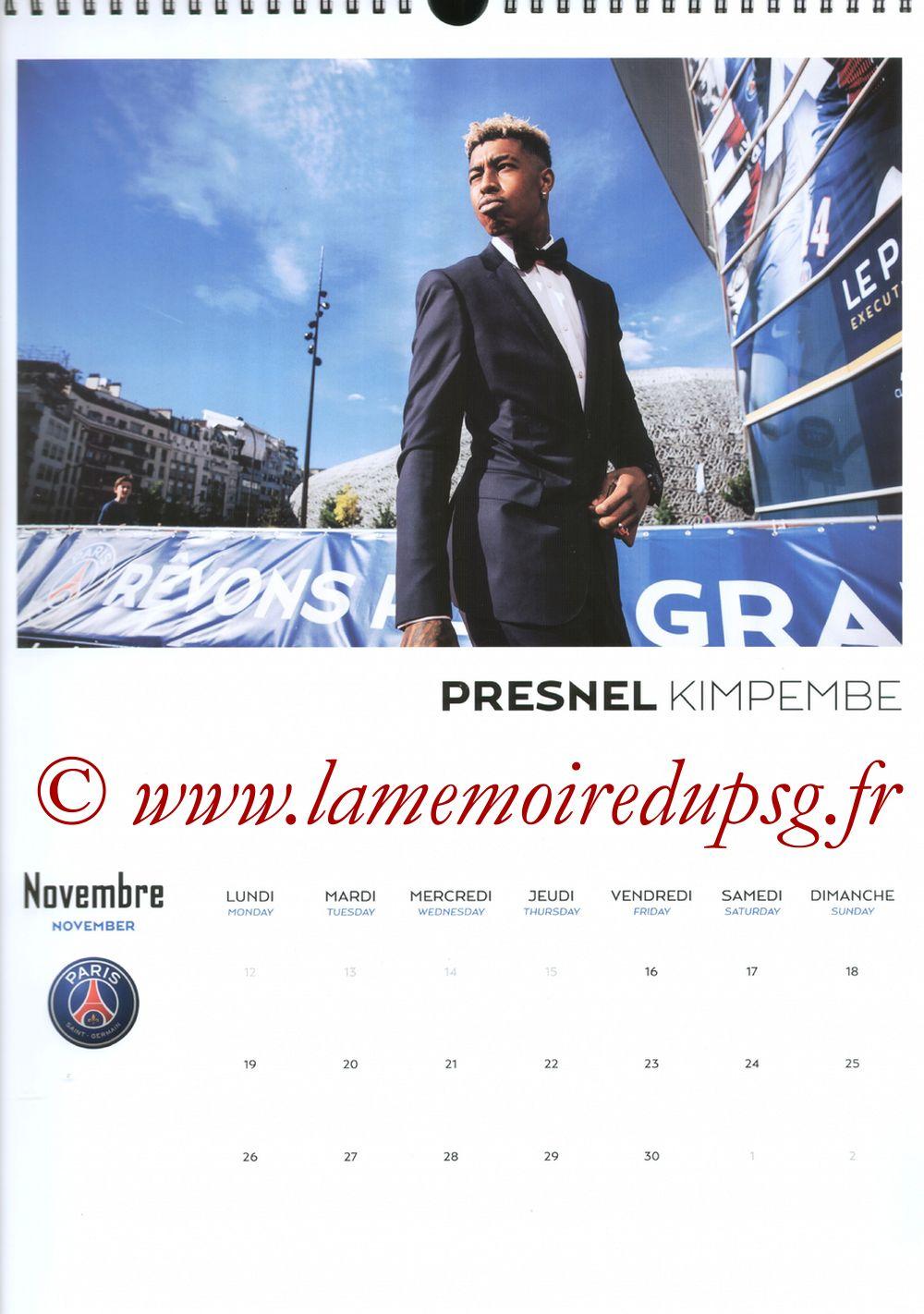 Calendrier PSG 2018 - Page 22 - Presnel KIMPEMBE