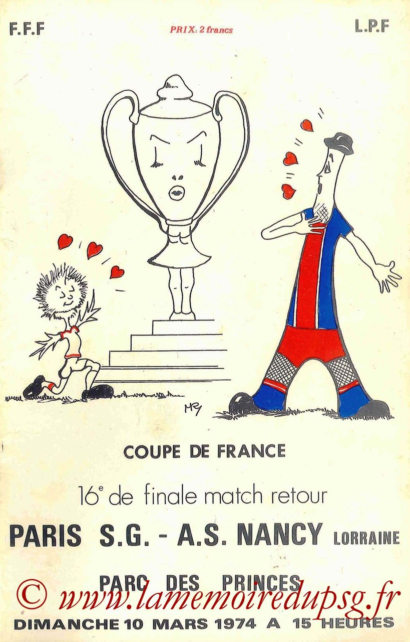 1974-03-10  PSG-Nancy (16ème Retour CF)