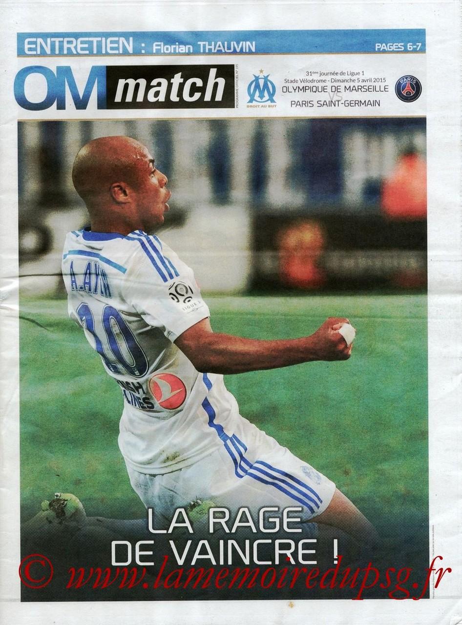 2015-04-05  Marseille-PSG (31ème L1, OM Match N° 195)