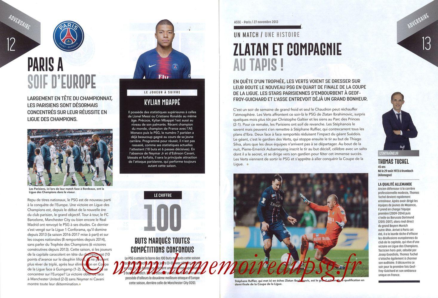 2019-02-17  Saint Etienne-PSG (25ème L1, Maillot Vert N° 13) - Pages 12 et 13