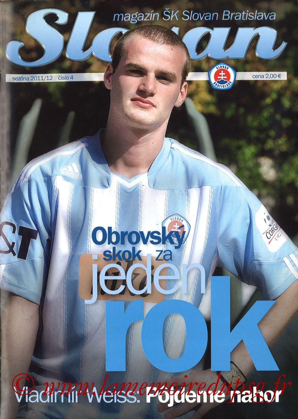 2011-10-20  Slovan Bratislava-PSG (3ème C3, Slovan N°4)
