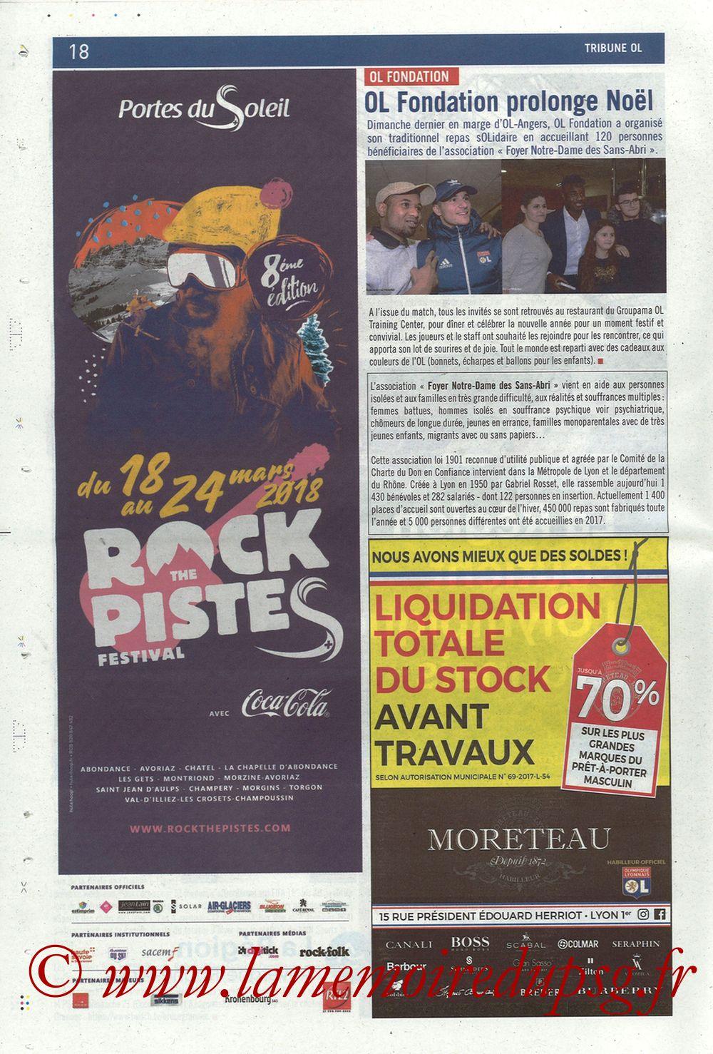 2018-01-21  Lyon-PSG (22ème L1, La Tribune OL N° 244) - Page 18