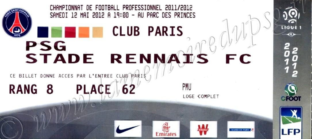 2012-05-13  PSG-Rennes (37ème L1, Club Paris)