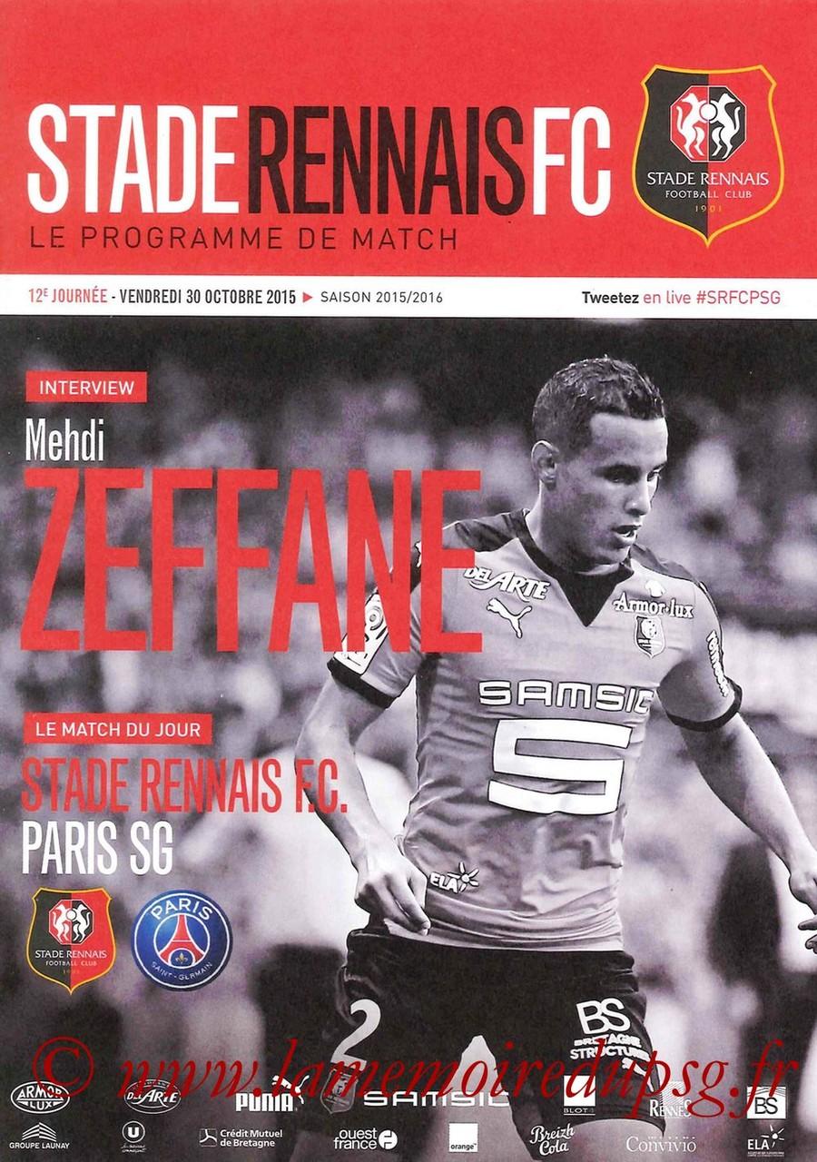 2015-10-30  Rennes-PSG (12ème L1, Stade Rennais FC)