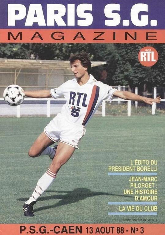 1988-08-13  PSG-Caen (6ème D1, Paris SG Magazine N°3)