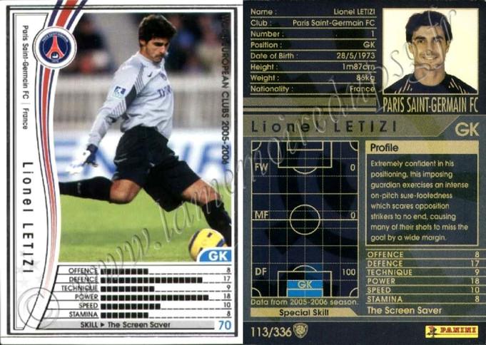 2005-06 - N° 113 - Lionel LETIZI