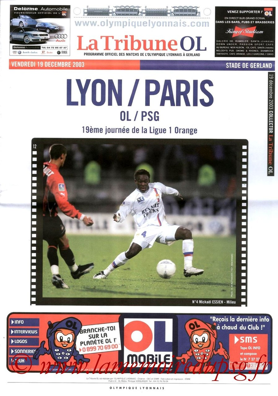 2003-12-19  Lyon-PSG (19ème L1, La tribune OL)
