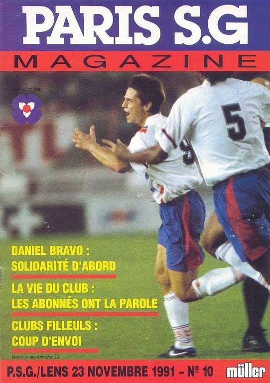 1991-11-23  PSG-Lens (19ème D1, Paris SG Magazine N°10)