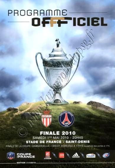 2010-05-01  PSG-Monaco (Finale CF au Stade de France, Programme officiel)