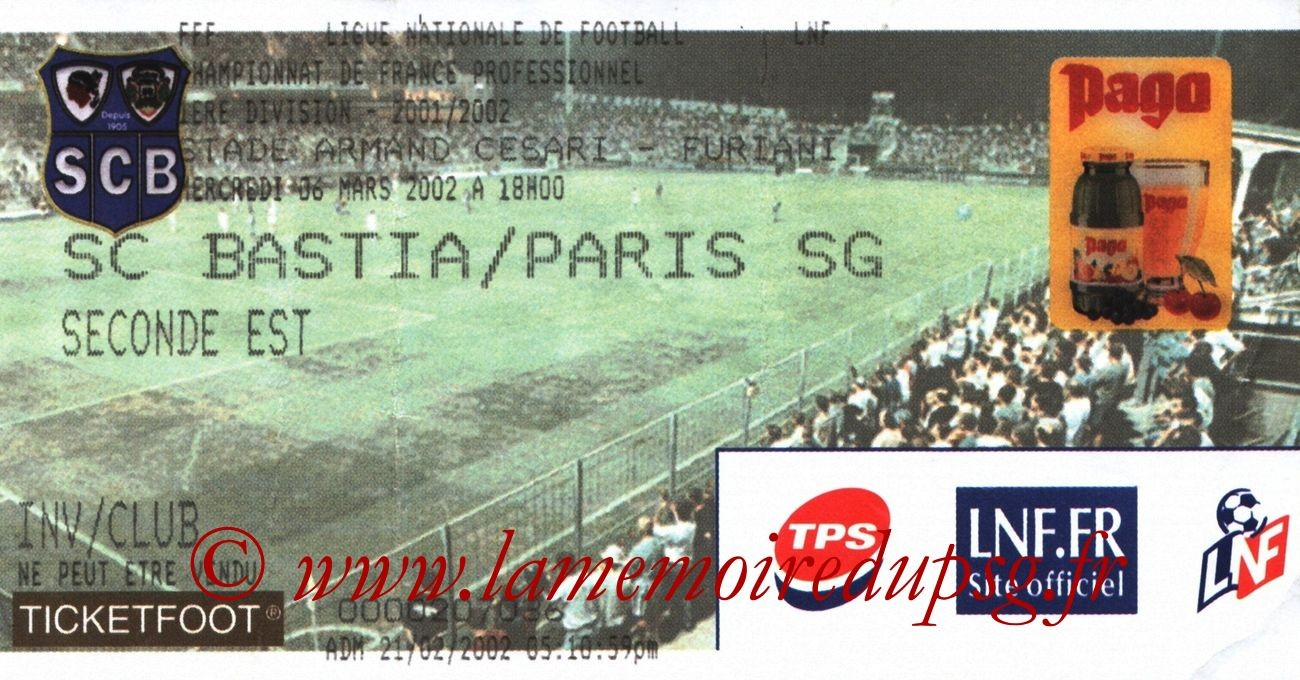 2002-03-06  Bastia-PSG (28ème D1, bis)