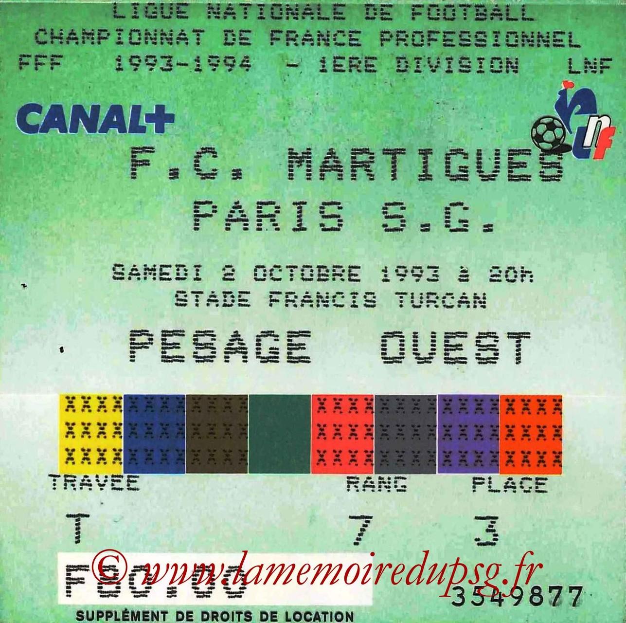 1993-10-02  Martigues-PSG (11ème D1)