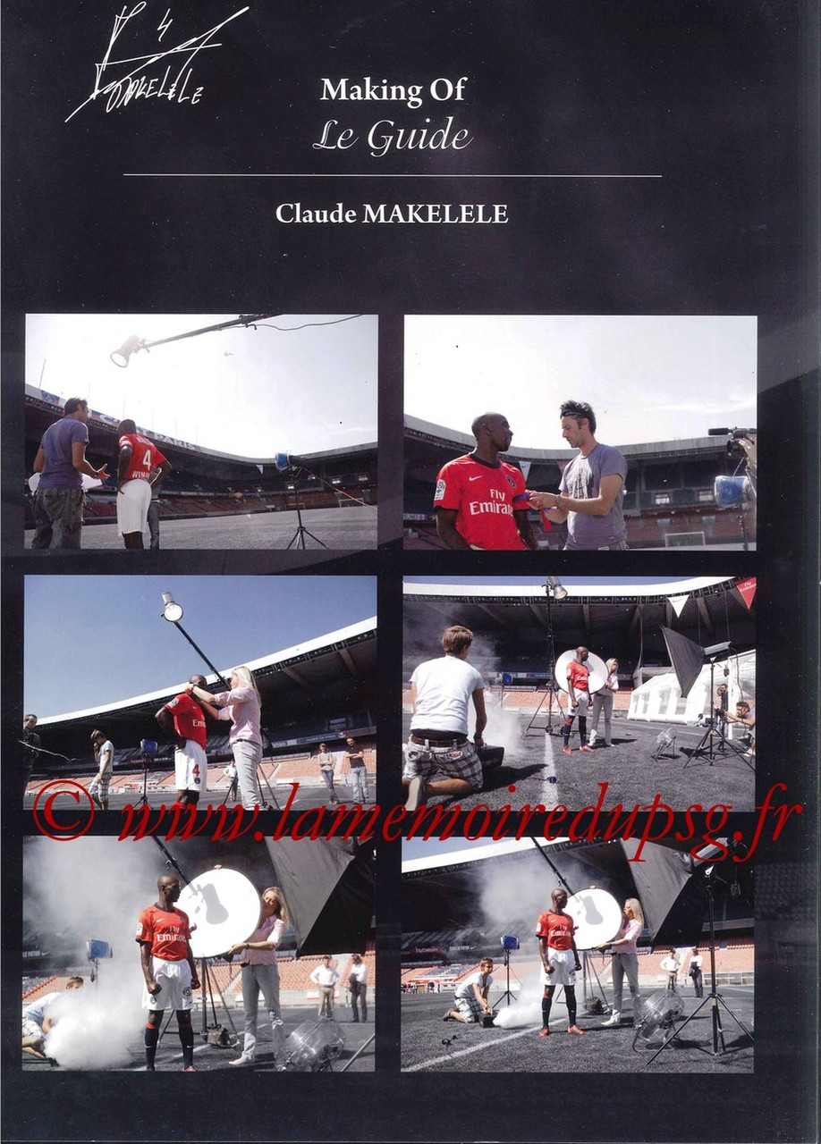 Calendrier PSG 2011 - Page 02 - Le Guide (Making Of)