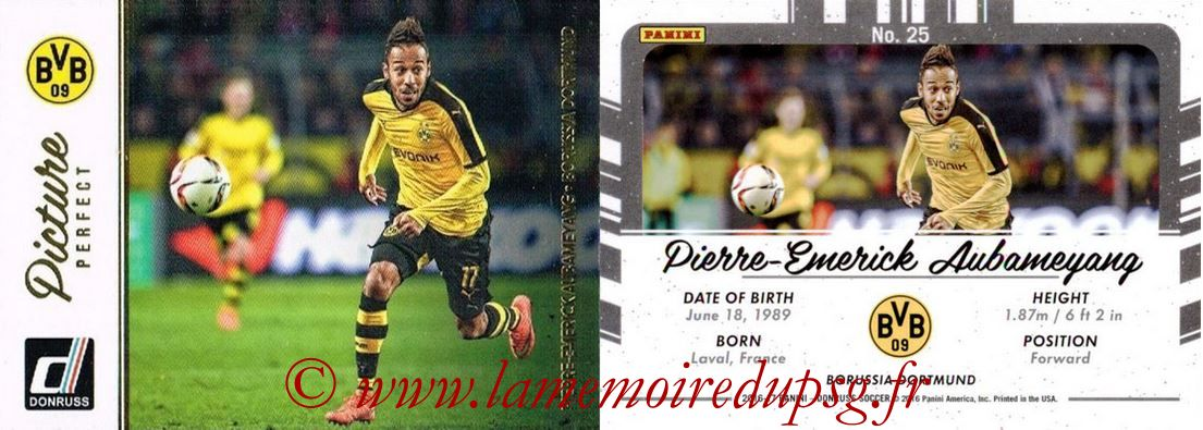 2016 - Panini Donruss Cards - N° PP25 - Pierre-Emerick AUBAMEYANG (Borussia Dortmund) (Picture Perfect)