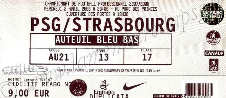 2008-04-02  PSG-Strasbourg (31ème L1)