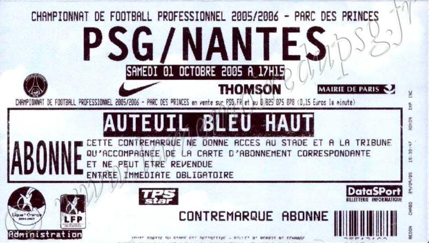 2005-10-01  PSG-Nantes (10ème L1)