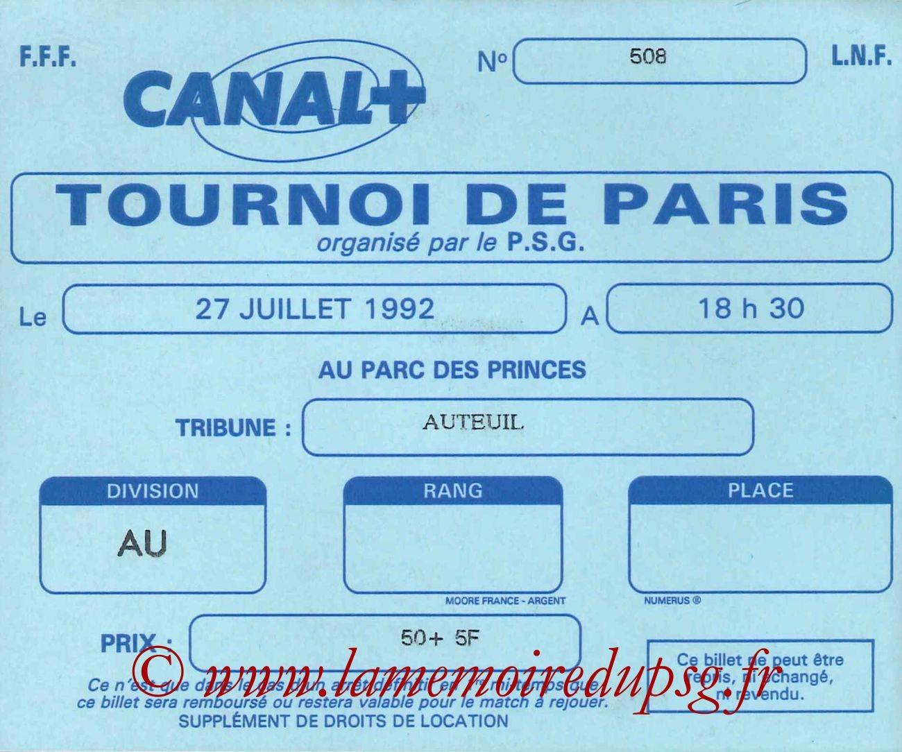 1992-07-27  PSG-Monaco (Finale 28ème Tournoi de Paris)