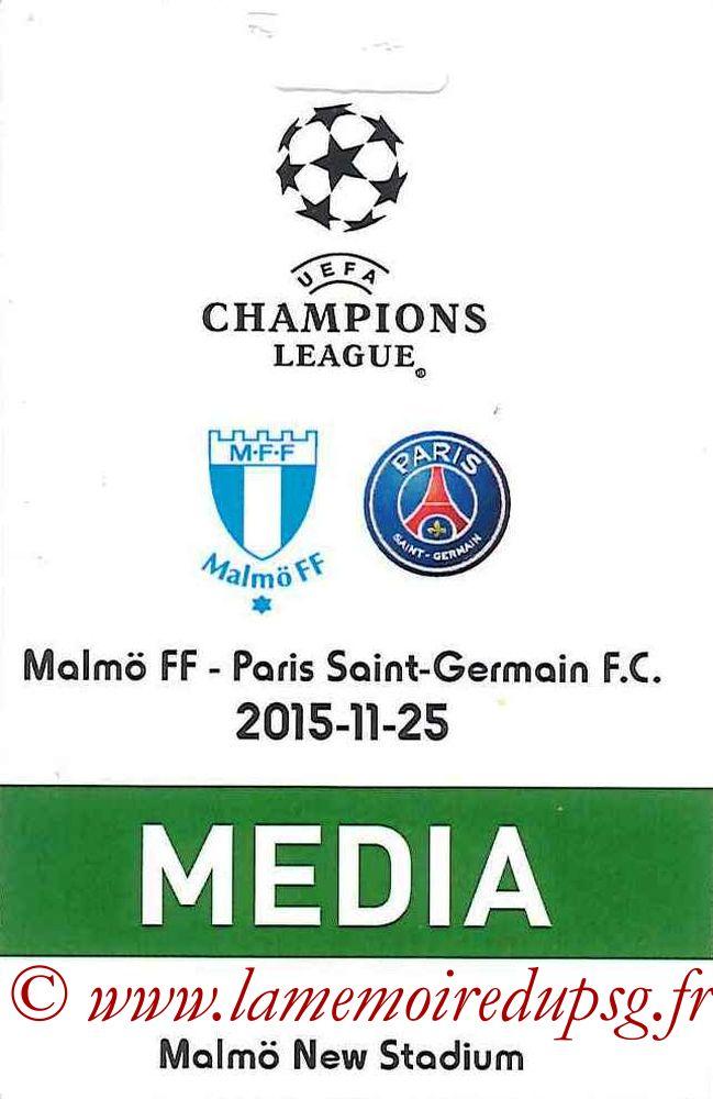 2015-11-25  Malmo-PSG (5ème C1, Presse)