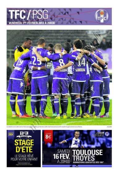 2013-02-01  Toulouse-PSG (23ème L1, Programme officiel)