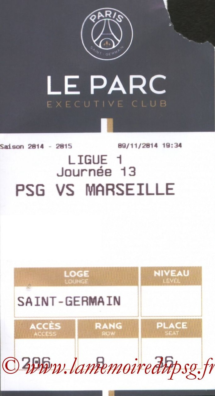 2014-11-09  PSG-Marseille (13ème L1, E-ticket Executive club)
