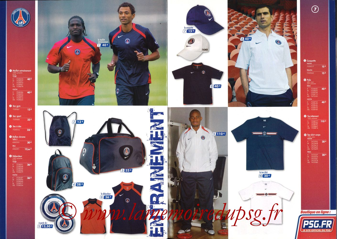 Catalogue PSG - 2005-06 - Pages 06 et 07