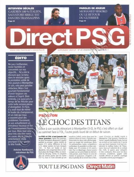 2011-10-02  PSG-Lyon (9ème L1, Direct PSG N°20)