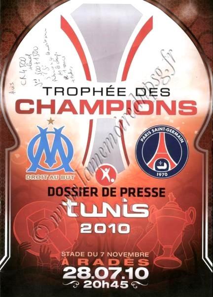 2010-07-28  PSG-OM (Trophée des Champions, Dossier de presse, pas de programme)