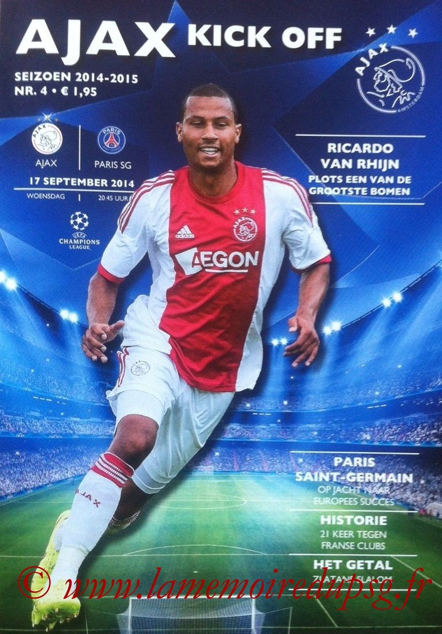 2014-09-17  Ajax-PSG (1ère Poule C1, Ajax Kick Off N°4)