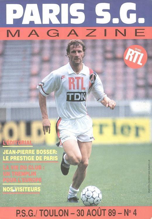 1989-08-30  PSG-Toulon (8ème D1, Paris SG Magazine N°4)