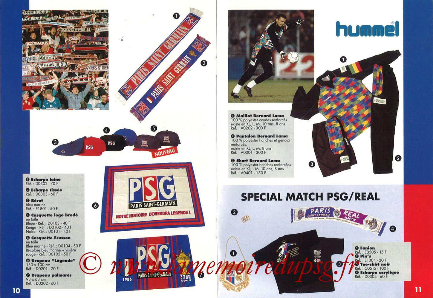 Catalogue PSG - 1993-94 - Pages 02 et 03