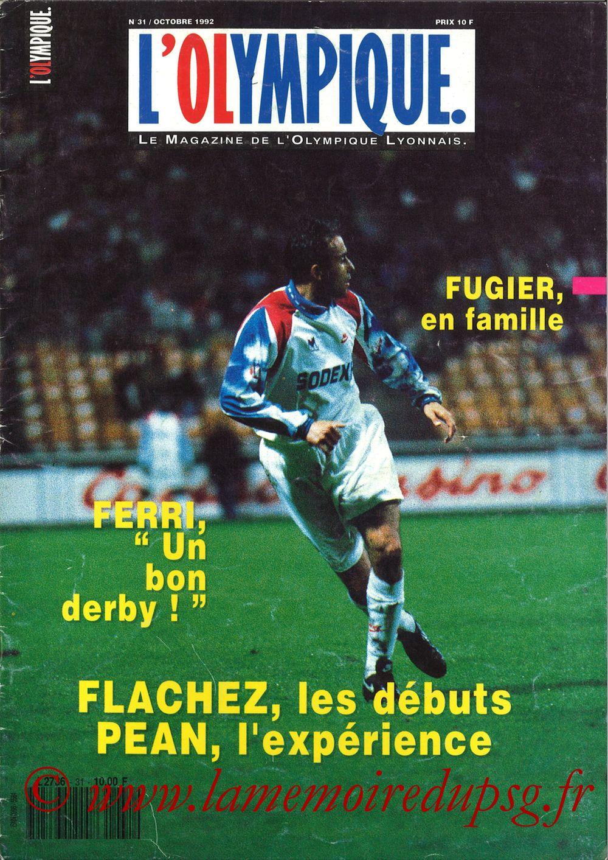 1992-10-11  Lyon-PSG (10ème D1, L'Olympique N°31)