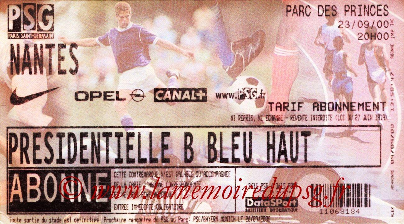 2000-09-23  PSG-Nantes (9ème D1)