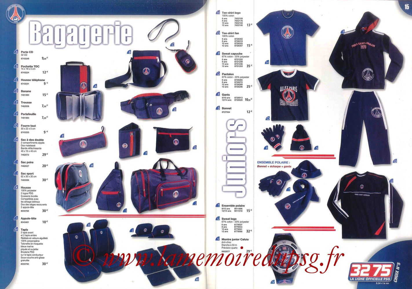 Catalogue PSG - 2006-07 - Pages 14 et 15