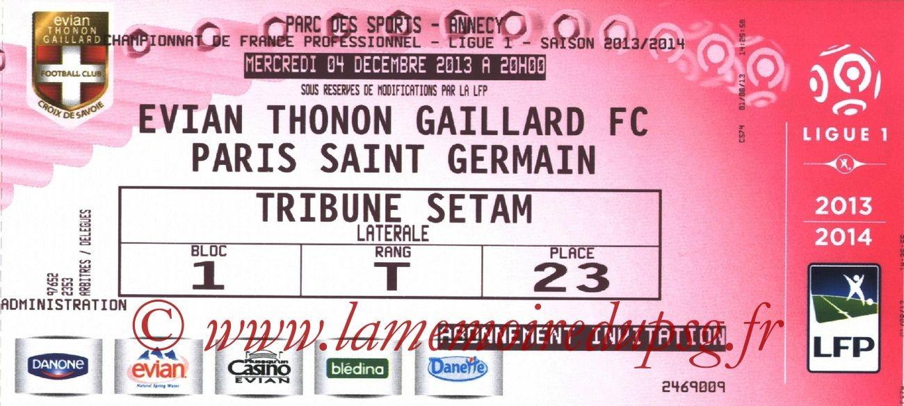 2013-12-04  Evian TG-PSG (16ème L1)