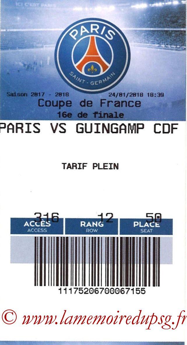 2018-01-24  PSG-Guingamp (16ème CF, E-ticket2)