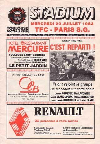 1983-07-20  Toulouse-PSG (1ère D1, Stadium)