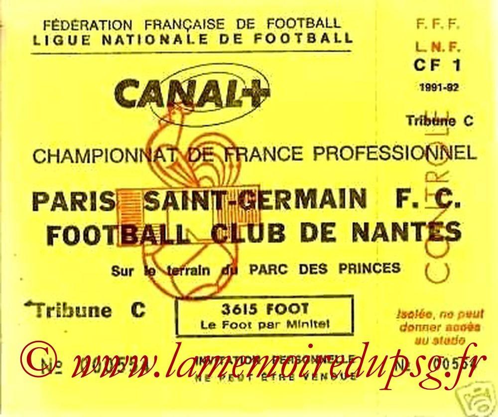 1992-05-02  PSG-Nantes (38ème D1, Invitation LNF)