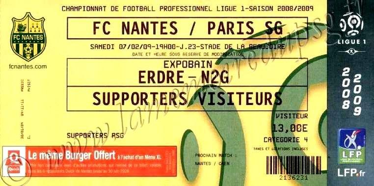 2009-02-07  Nantes-PSG (23ème L1)