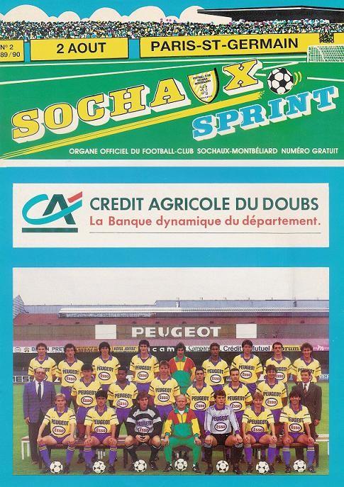 1989-08-02  Sochaux-PSG (3ème D1, Sochaux Sprint N°2)