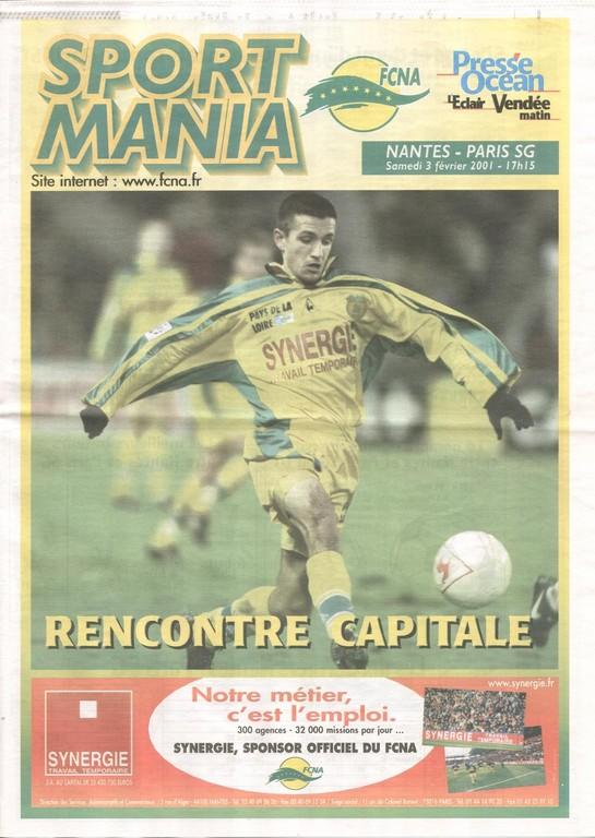 2001-02-03  Nantes-PSG (25ème D1, Sportmania)