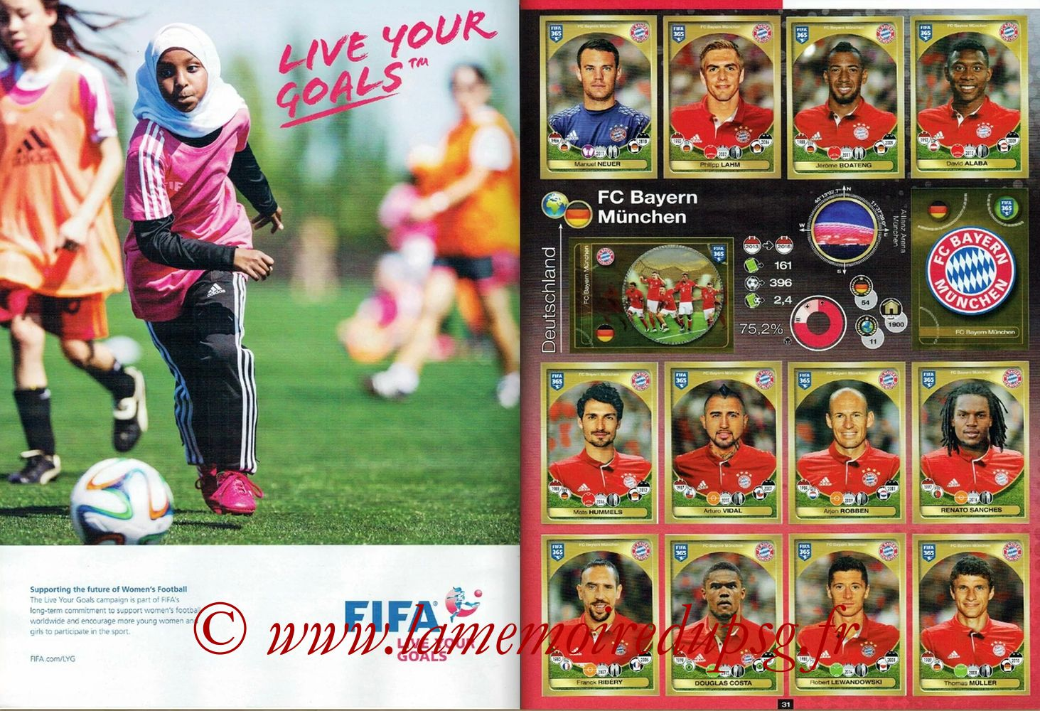 2016-17 - Panini FIFA 365 Stickers - Pages 30 et 31 - FIFA + FC Bayern Munich