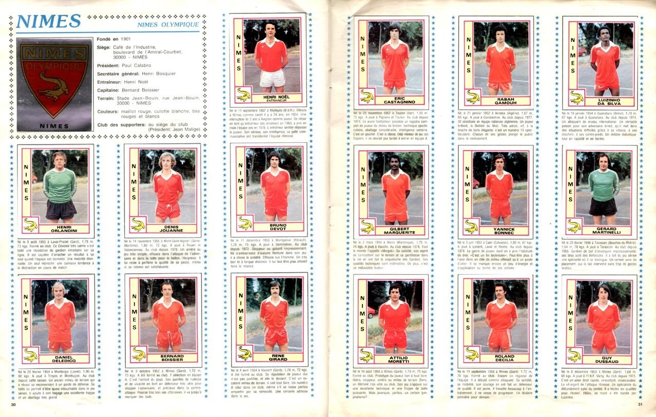 1979-80 - Panini 1980 - Pages 30 et 31 - Nîmes Olympique
