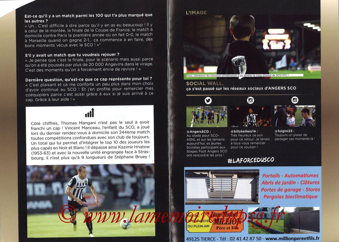 2017-11-04  Angers-PSG (12ème L1, Programme officiel) - Pages 08 et 09