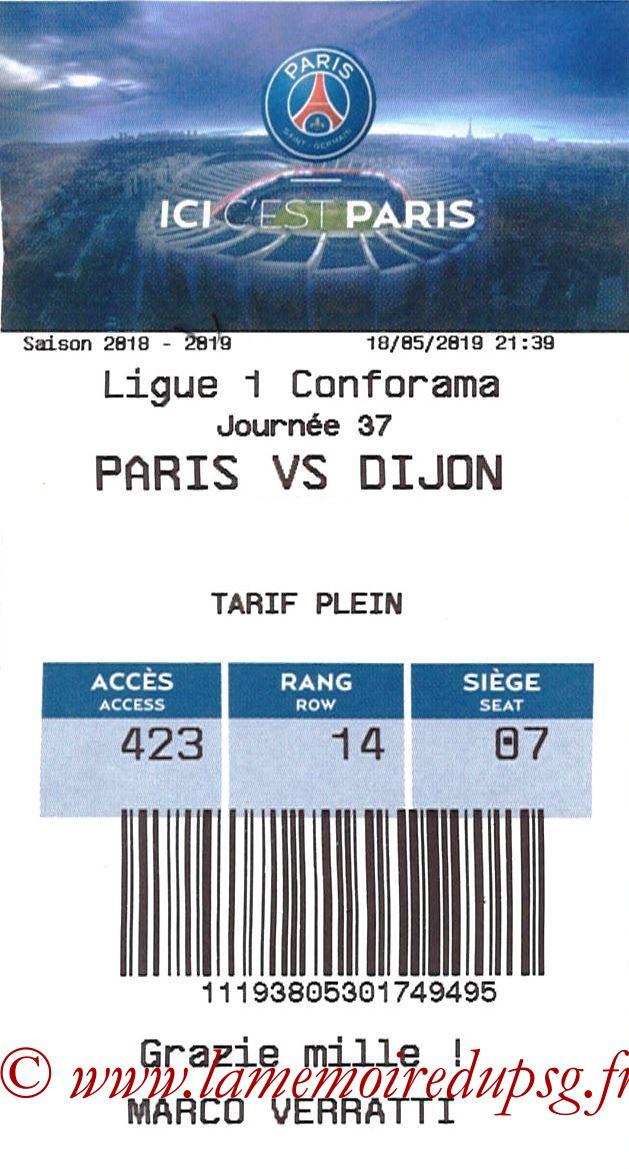 2019-05-18  PSG-Dijon (37ème L1, E-ticket)
