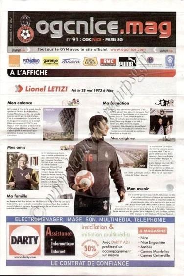2007-05-09  Nice-PSG (36ème L1, OGC Nice Mag N°91)