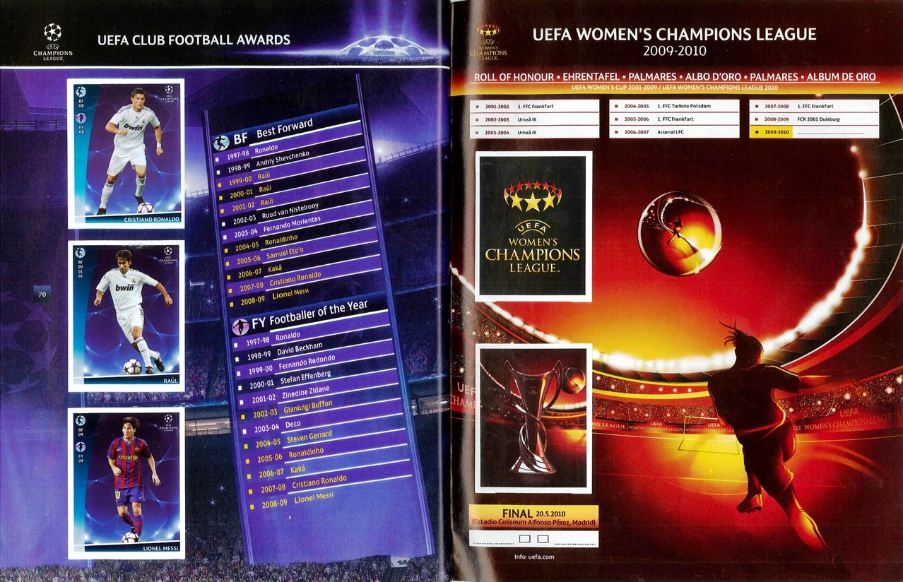 2009-10 - Panini Champions League - Pages 70 et 71