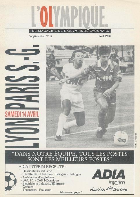 1990-04-14  Lyon-PSG (33ème D1, L'Olympique N°12)
