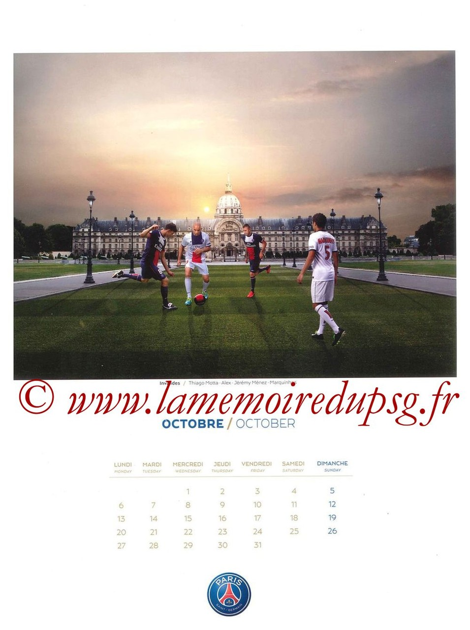 Calendrier PSG 2014 - Page 10 - Invalides