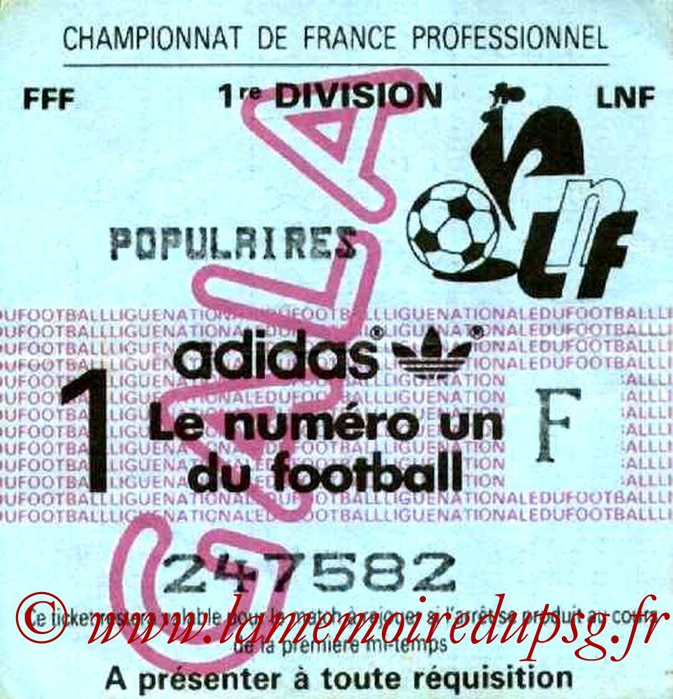 1984-10-19  Sochaux-PSG (13ème D1, Sans Nom)