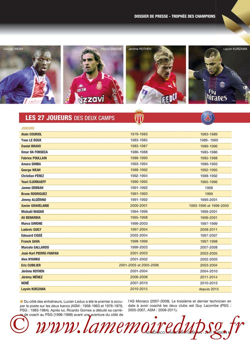 2017-07-29  Monaco-PSG (Trophée des Champions à Tanger, Dossier de Presse) - Page 15