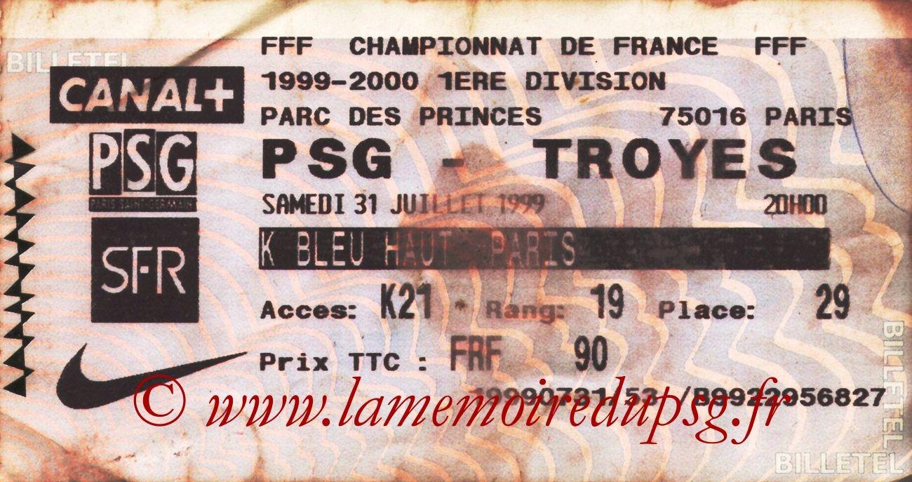 1999-07-31  PSG-Troyes (1ère D1, Billetel)